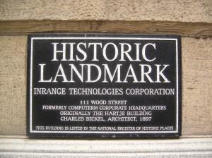 109-115 Wood Street Placard